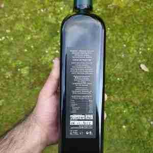 Description on the back of the Bottle