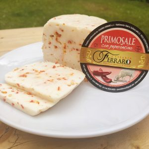 Sliced Pecorino Cheese Infused with Chilli